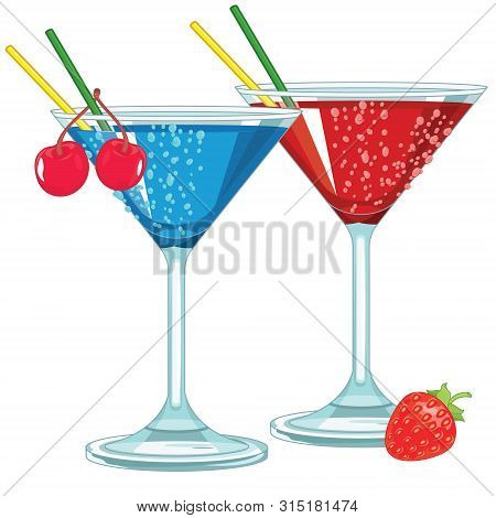 Fruity Cocktails alcohol drink martini glasses couple poster