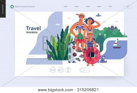 Travel Insurance -medical Insurance Illustration -modern Flat Vector Concept Digital Illustration -