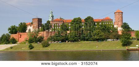 Panorama Of Wawel Castle In Krakow