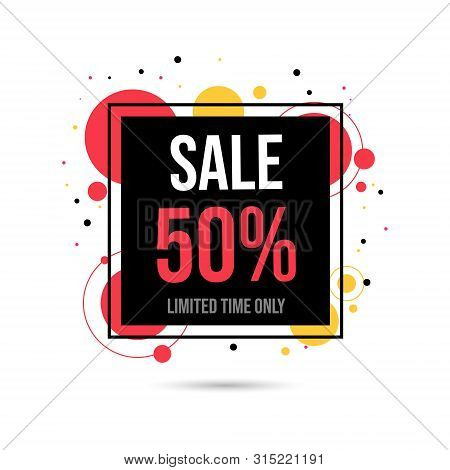 Big Sale, Discount Web Banner Template. Shopping Half Price Advertisement, Deals For Customers Promo