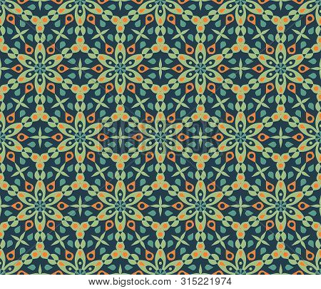 Islam Pattern In Abstract Style. Arabic Pattern Background. Vintage Texture. Holiday Islamic Backgro