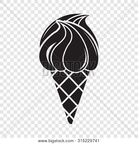 Wafer Ice Cream Icon. Simple Illustration Of Wafer Ice Cream Vector Icon For Web