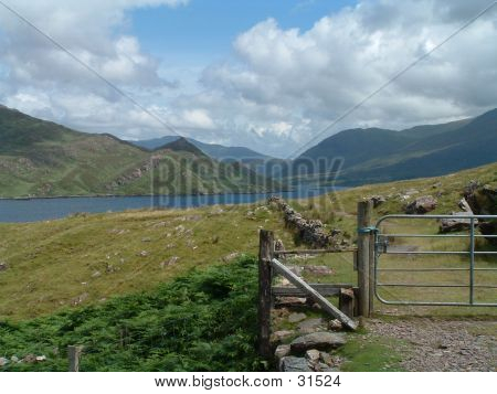 Gated Path In Scenic Ireland