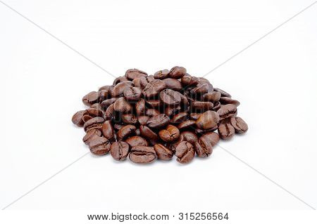 Coffee Bean Isolated On White Background.coffee Concept