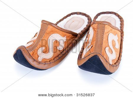 Soft Slippers In The Oriental Style
