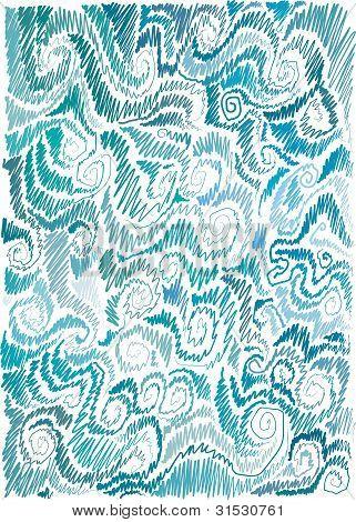 marine hand-drawn background