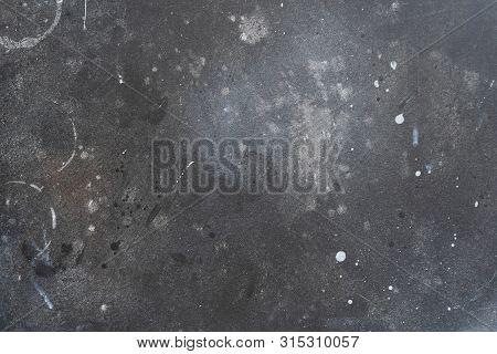 Image Of Black Shool Blackboard Background, Dark Stone Texture, Concrete Surface
