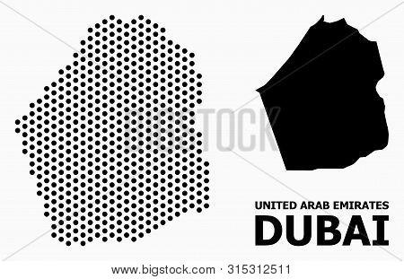 Dotted Map Dubai Vector & Photo (Free Trial)   Bigstock