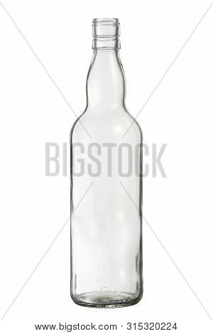 Glass Bottle Whiskey Packaging (with Clipping Path) Isolated On White Background