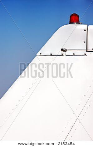 Close-Up Airplane Tail