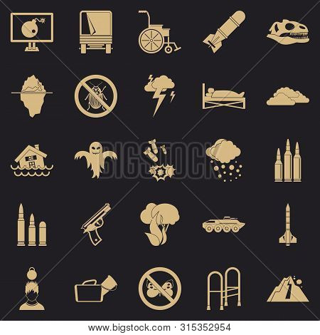 Fright Icons Set. Simple Set Of 25 Fright Icons For Web For Any Design