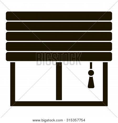 Smart Windows Jalousie Icon. Simple Illustration Of Smart Windows Jalousie Vector Icon For Web Desig