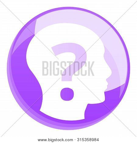 Head Question Icon. Cartoon Of Head Question Vector Icon For Web Design Isolated On White Background