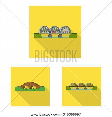 Isolated Object Of Bridgework And Bridge Symbol. Collection Of Bridgework And Landmark Vector Icon F