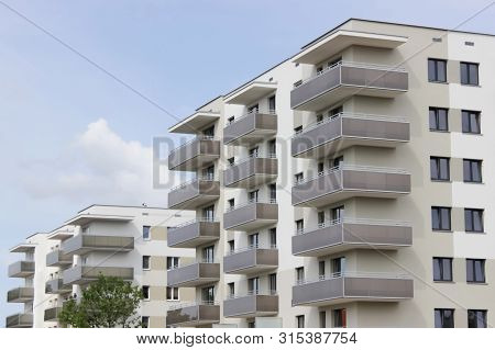 The New Building Is Waiting For Their New Settlers Beautiful Modern Simple Multi-storey Building Wit