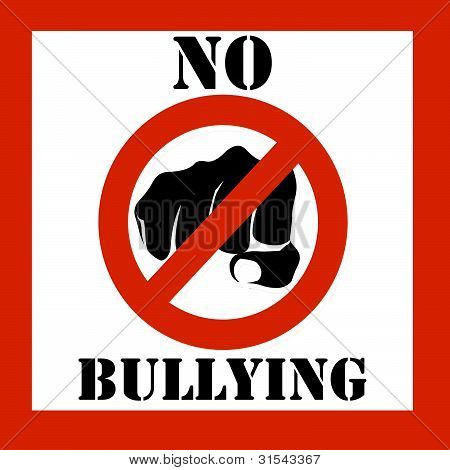 No Bullying Sign Illustration
