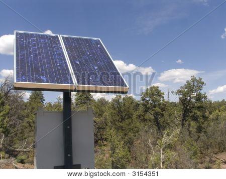Solar Panel In Woods