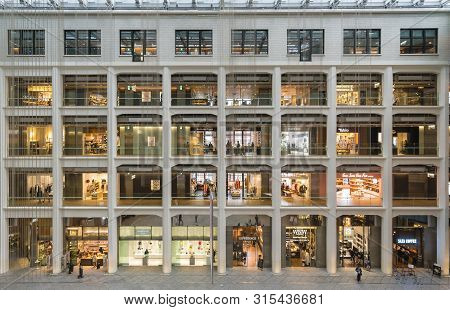 Tokyo, Japan - Mar 26, 2019: Kitte Marunouchi In Japan. It Is A Shopping Mall Renovated From An Old