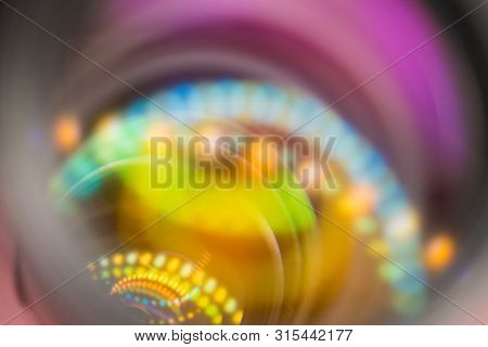 Vivid Bright Colored Abstract Background With Blurred Circule Shaped  Light Spots.