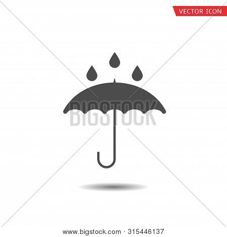 Waterproof Technology Icon. Umbrella With Falling Water Drops