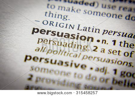 Word Or Phrase Persuasion In A Dictionary