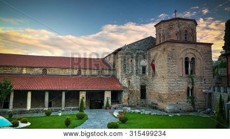 Exterior view to Saint Sophia ortodox church in Ohrid, North Macedonia poster