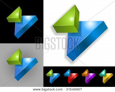 Abstract graphic design of 3d icon or symbol poster