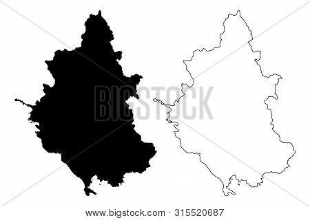 Epirus Region (greece, Hellenic Republic, Hellas) Map Vector Illustration, Scribble Sketch Epirus Ma