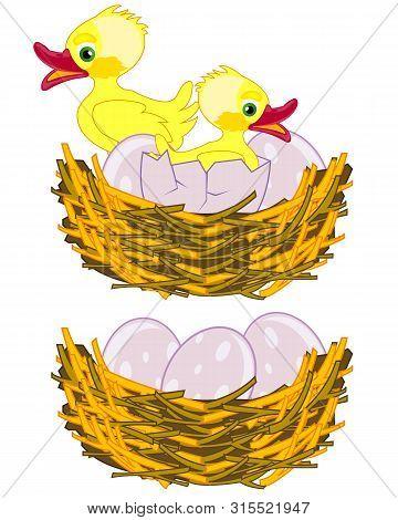 Vector Illustration Jack With Egg And Nestling