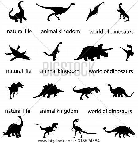 Silhouettes Of Dinosaurs Paleontology Predator History Ancient World Archeology Carnivorous Dinosaur