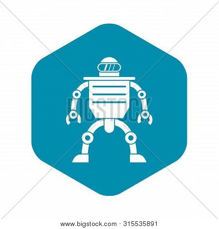 Humanoid Robot Icon. Simple Illustration Of Humanoid Robot Icon For Web