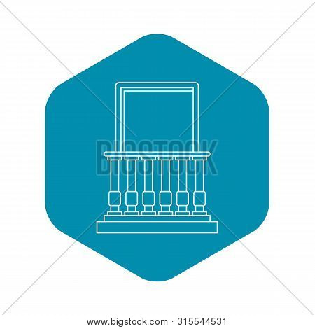 Balcony And Balustrade Icon. Outline Illustration Of Balcony And Balustrade Icon For Web