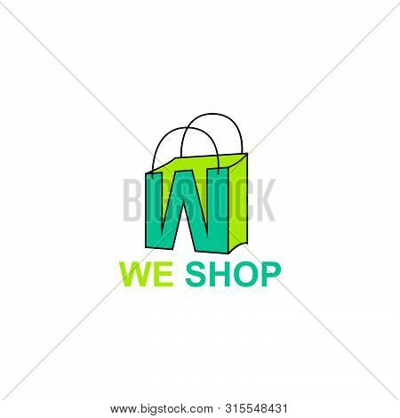 Elegant Letter W Symbol, Market Place Logo Concept