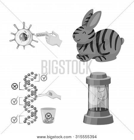 Vector Design Of Transgenic And Organic Symbol. Set Of Transgenic And Synthetic Vector Icon For Stoc