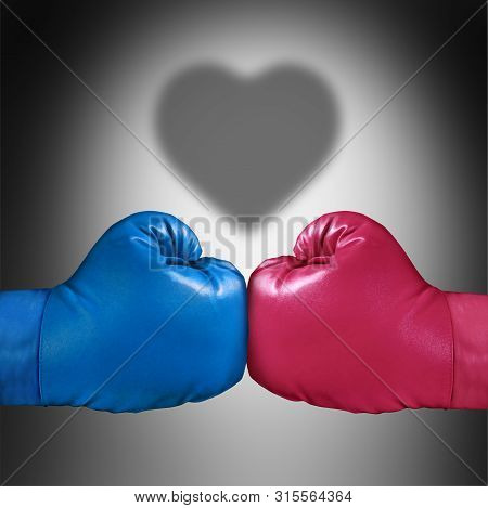 Relationship Fight Concept Or Renewal Of Love After A Lovers Dispute Or Marriage And Couples Therapy
