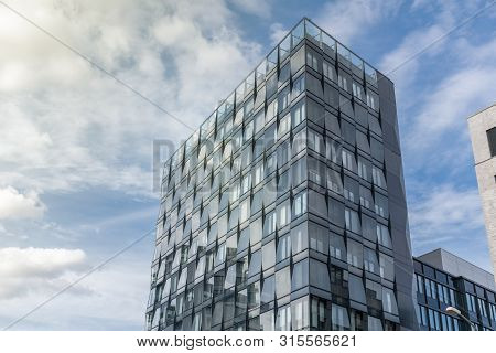 Berlin, Germany - September 26, 2018: Upwards And Vertical Perspective Of The Mercedez Benz Europa-c