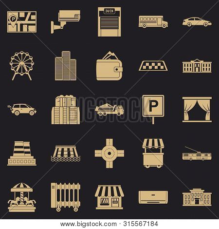 Burg Icons Set. Simple Set Of 25 Burg Icons For Web For Any Design
