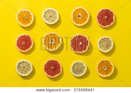 Citruses Creative Healthy Food. Healthy Food Detox. Detox Food. Citruses Closeup. Creative Vegetaria