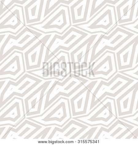 Subtle Abstract Geometric Seamless Pattern. Vector Minimalist Background With Mosaic Elements, Angul