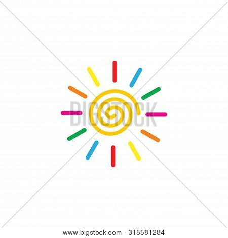 Sun Color Full,sun Icon. Sun Collection Logo Icon Vector. Sun Star Collection, Sun Icon Logo. Sun Ic