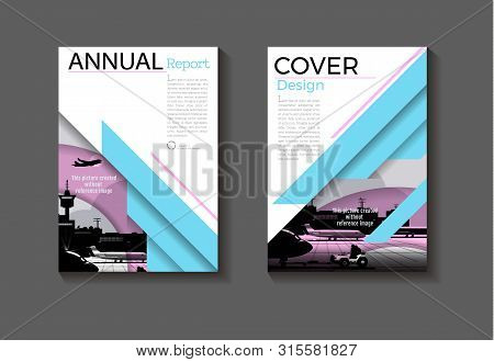 Blue And Pink Cover Background Modern Design Modern Book Cover Brochure Cover  Template,annual Repor