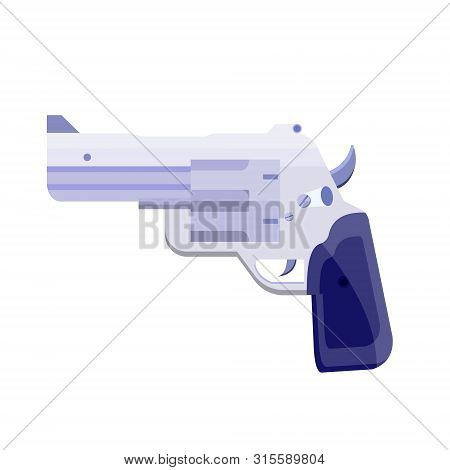 Realistic Metal, Gray, Metallic Revolver, Gun, Pistol, Gat, Handgun, Bulldog For Police, Gun Shop, C
