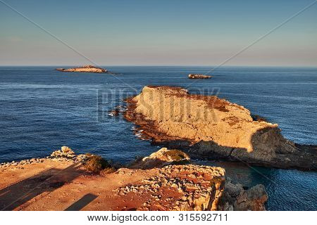 View To The Kleides Islands At The North-eastern Edge Of Cyprus Island.