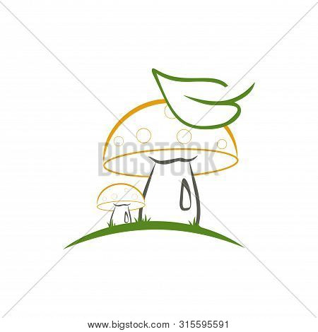 Mushroom Icon Isolated On White Background From Gastronomy Collection. Mushroom Icon Trendy And Mode