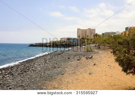 North Coast Line Of Candelaria Town, Tenerife, Spain