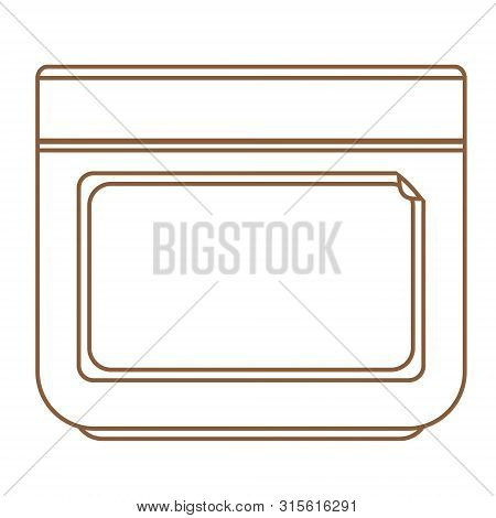 Jar For Cream Icon. Outline Drawing. Vector Illustration