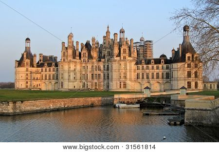 Chambord Castle In Loire Valley