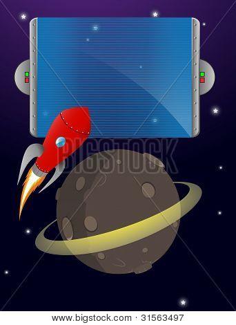 space rocket sign