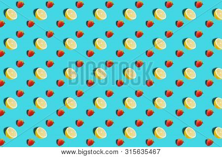 Vivid Fruit Pattern Of Fresh Lemon Background
