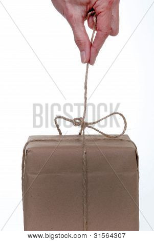 Untying String On A Package